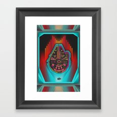 Vintage Falcon Framed Art Print