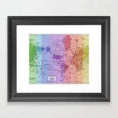 Rainbow World Map II Framed Art Print