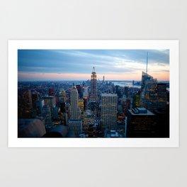 New York City Dusk Art Print