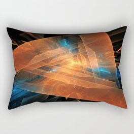 Triangular abstraction Rectangular Pillow