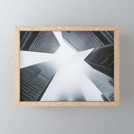 Hyper Fog - New York City Framed Mini Art Print