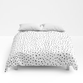 Dotted White & Black Comforters