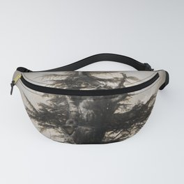 The new and the old in sepia Fanny Pack