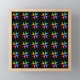 Stars 17- sky,light,rays,pointed,hope,estrella,mystical,spangled,gentle. Framed Mini Art Print