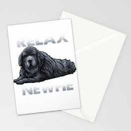 Relax It's A Newfie - Newfoundland Dog Owner T-Shirt Stationery Cards
