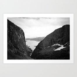 A View Through The Cliffs Art Print
