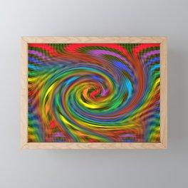 Rainbow Swirl Framed Mini Art Print