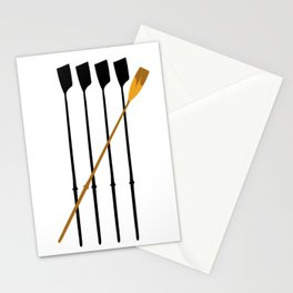 Rowing Oars 4 Stationery Cards