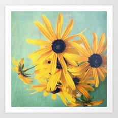 Sweet Yellow Flowers Art Print