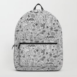 Winter Woodland Creatures in Black & White Backpack