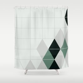 ice teal Shower Curtain