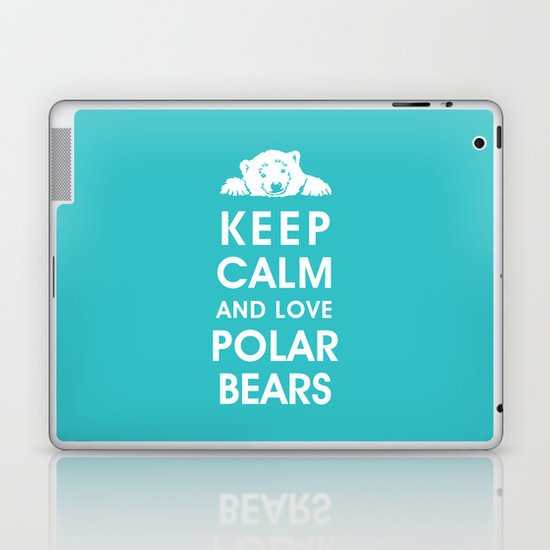 Keep Calm and Love Polar Bears Laptop & iPad Skin