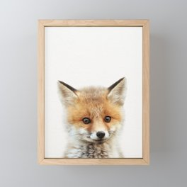 Baby Fox, Baby Animals Art Print By Synplus Framed Mini Art Print