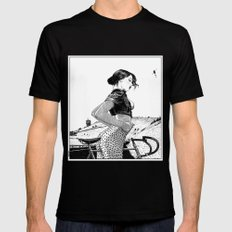 asc 654 - L'ascension du Mont Ventoux (The velociraptor revealed) Black Mens Fitted Tee SMALL