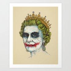 God Save the Villain! Art Print