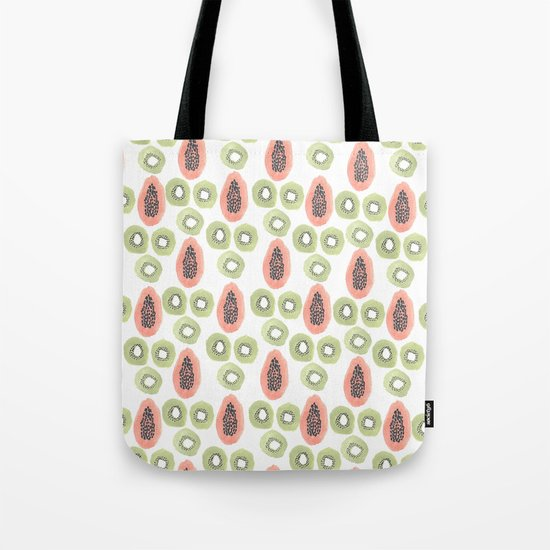 Kiwi and Papaya Tote Bag