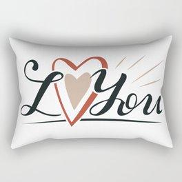 I Love You With Heart Rectangular Pillow