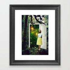 Portal in the Woods Framed Art Print
