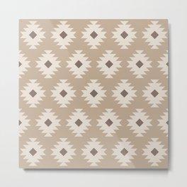 Southwestern Pattern 454 Beige Metal Print