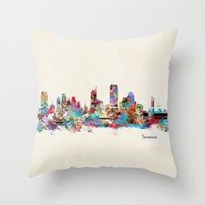 Sacramento California skyline Throw Pillow