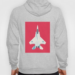 F15 Eagle Supersonic Fighter Jet Aircraft - Crimson Hoody