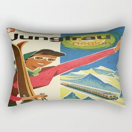 Vintage poster - Jungfrau, Switzerland Rectangular Pillow