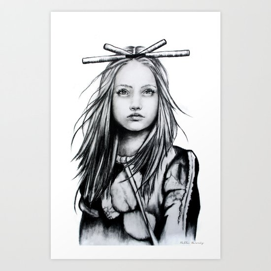 Bamboo Hair Art Print