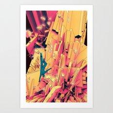 Break Up Art Print