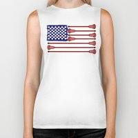 lacrosse Biker Tanks featuring Lacrosse AmericasGame by YouGotThat.com
