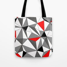Geo - red, gray, black and white Tote Bag