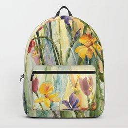 Spring Medley Flowers Backpack