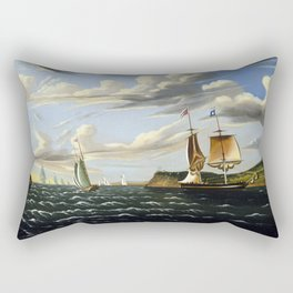 Thomas Chambers Staten Island and the Narrows Rectangular Pillow
