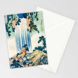 Katsushika Hokusai - Yoro Waterfall in Mino Province Stationery Cards