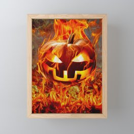 FIRE PIT Framed Mini Art Print
