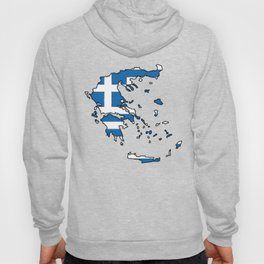 Greece Map with Greek Flag Hoody