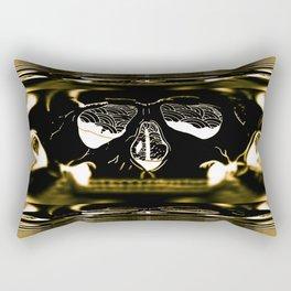 gold skull Rectangular Pillow