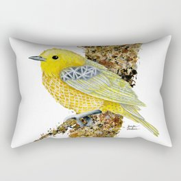 Yellow Warbler Tilly Rectangular Pillow