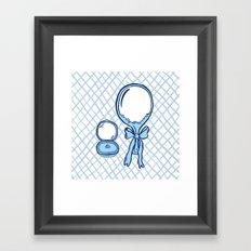 Budoir Blue Framed Art Print