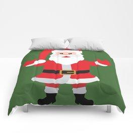 Christmas Santa Claus Says Welcome to You Comforters