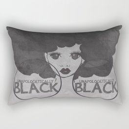 UNAPOLOGETICALLY BLACK Rectangular Pillow
