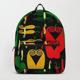 Pepper Paisley Pattern on Black Backpack