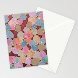 It's Always Summer Somewhere - translucent poppy doodle Stationery Cards