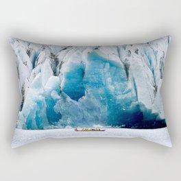 Ride to the Alaskan Glacier Rectangular Pillow