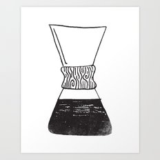 chemex coffee Art Print