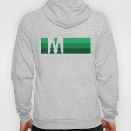 MN Logo - Green Stripes Hoody