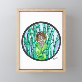 Bamboo and Daisies Framed Mini Art Print