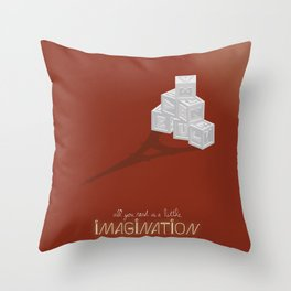 Never Forget to Play - Blocks Throw Pillow