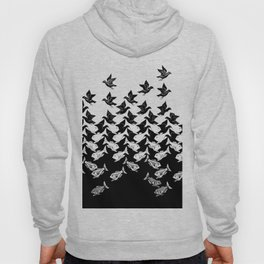 fish and birds tessellation art deco Hoody