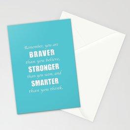 Braver, Stonger, Smarter Stationery Cards