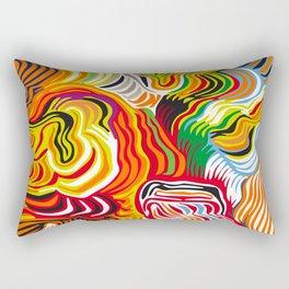colored flow Rectangular Pillow